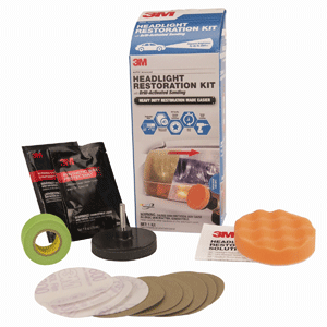 3M Headlight Restoration Kit Heavy Duty with Drill-Activated Sanding