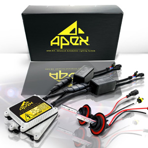 Apex HID Xenon Conversion Kit All Bulb Sizes and Colors with Premium Slim Ballasts (h11, 8k ice blue)