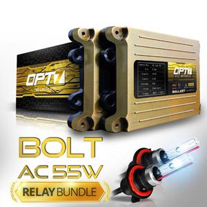 Bolt AC 55w HID Xenon Conversion Kit w Relay & Capacitors Bundle 9006 5000K Bright White 2 Yr Warranty
