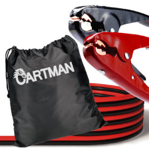 Cartman Heavy Duty Booster Cables Jump Cable with Carry Bag, 2 AWG (2Gauge x 20Feet)