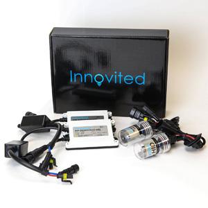 Innovited AC 55W HID Xenon Conversion Kit With Slim ballast - H11 H9 H8 - 6000K - 2 Bulbs & 2 Ballasts