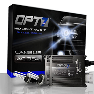 OPT7 Premium Error-Free AC Canbus HID Kit w Relay Harness & Capacitors - 2 Year Warranty - D2S (5000K, Bright White)