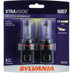 SYLVANIA 9007 XtraVision Halogen Headlight Bulb, (Contains 2 Bulbs)