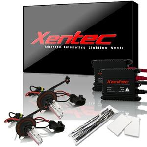 XENTEC H139008 10000K Advanced Slim Alloy Ballast HID Xenon Kit w Hi-beam Halogen (Brilliant Blue)