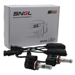 SNGL Super Bright LED Headlight Bulbs - Adjustable Focus Length Conversion Kit - H11 (H8 , H9) - 110w 10,400Lm 6000K Cool White - 2 Yr Warranty