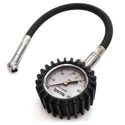 TireTek Flexi-Pro Tire Pressure Gauge, Heavy Duty Best For Car & Motorcycle - 60 PSI