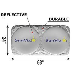 Car Sunshade Windshield UV Blocker - By Sun Via