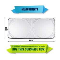 190T Windshield Sun Shade by Shade-It