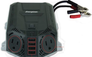 Energizer EN100 Ultra Compact DC to AC 100W Direct Plug-in Power Inverter