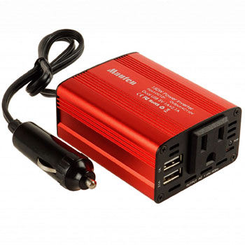 Akarui Electy Car Power Inverter DC12V to AC110V Converter with Dual USB Car Charger Adapter