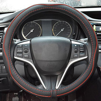Rueesh Microfiber Leather Car Steering Wheel Cover