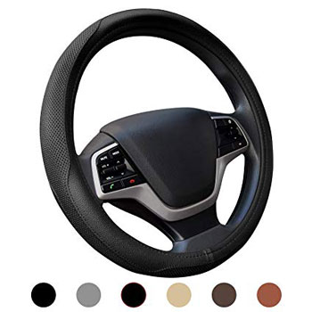 Ylife Microfiber Leather Car Steering Wheel Cover