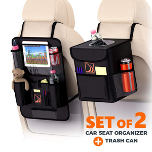 CONFACHI BACKSEAT ORGANIZER AND CAR TRASH CAN