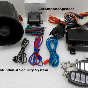 Omega K9 Mundial-4 Car Alarm with Keyless Remote Entry