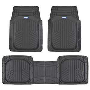 ACDelco ACOF-933-BK Deep Dish All-Climate Rubber Floor Mats