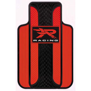 Plasticolor Red R Racing Universal-Fit Molded Front Floor Mats