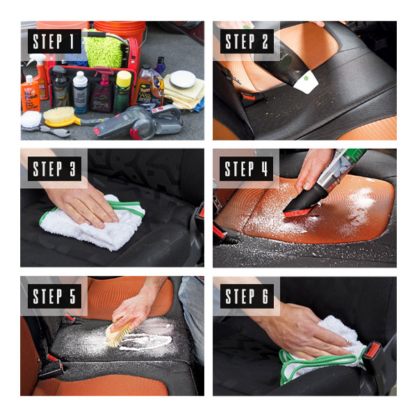 How to Clean Car Upholstery Step by Step Infographic