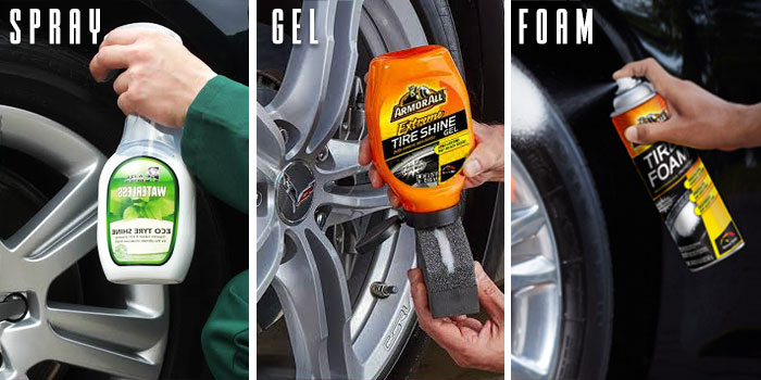 tire shine application types