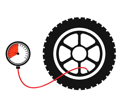 how to check tire pressure diagram