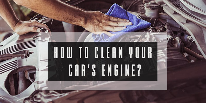 how to clean car engine
