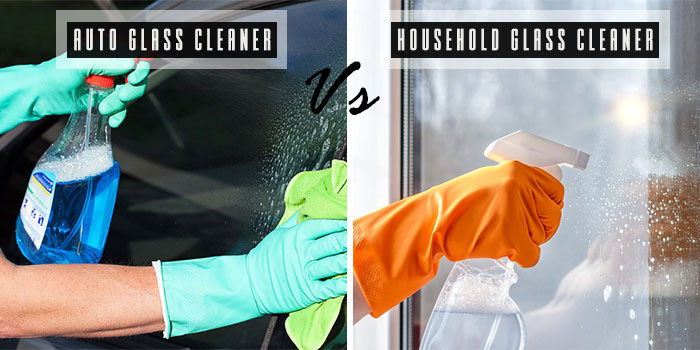 auto glass cleaner vs household glass cleaner