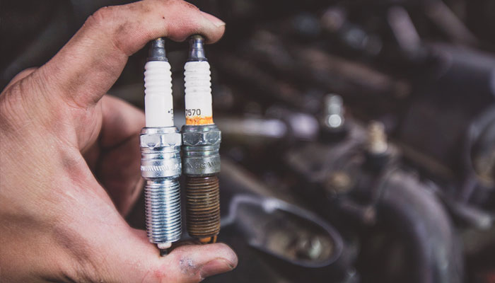 changing a spark plug