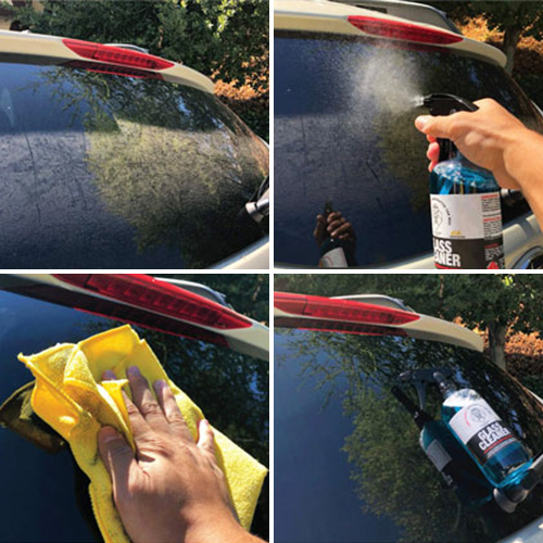 how to clean car window