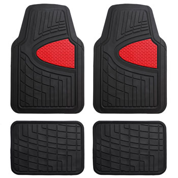 FH Group F11311RED Red Rubber Floor Mat