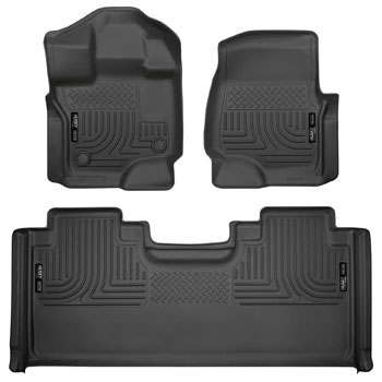 Husky Liners 94051 Black Weatherbeater Front & 2nd Seat Floor Mats