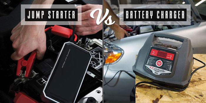 jump starter vs battery charger