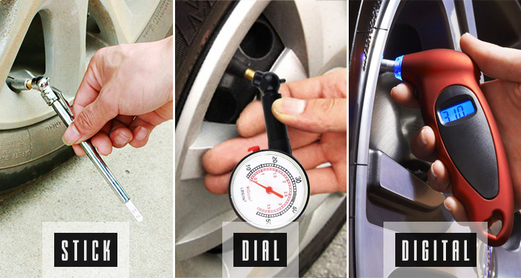 tire pressure gauge types