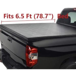 Deebior Clamp-On Waterproof Soft Lock & Roll-up Top Mount Tonneau Cover (2)