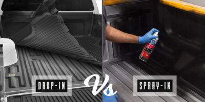drop-in vs spray-in bedliners