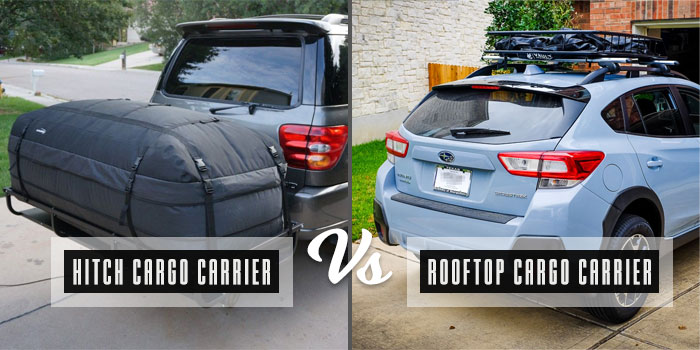 hitch cargo carrier vs rooftop cargo carrier