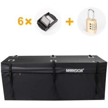 MARKSIGN 100% Waterproof Hitch Carrier Cargo Bag