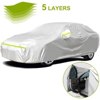 Favoto Full Car Cover Sedan Cover Universal Fit_