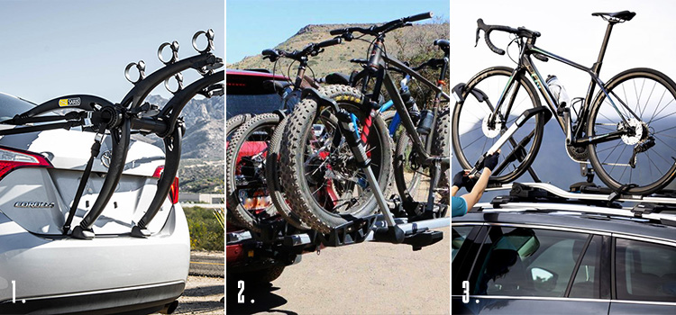 types of bicycle racks for cars